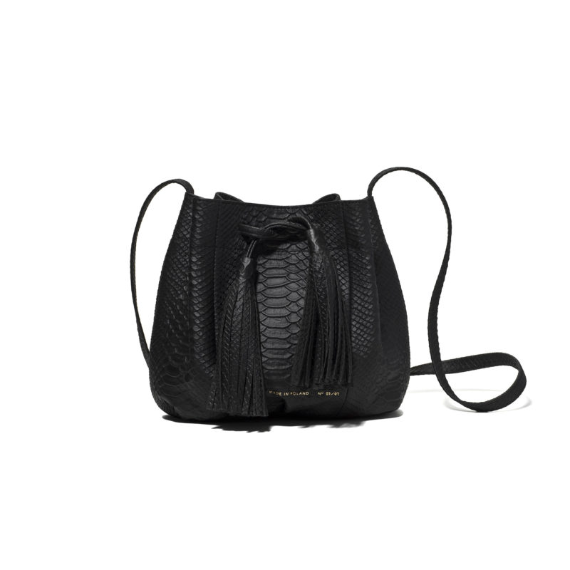 "Small Bucket Bag ""python"""