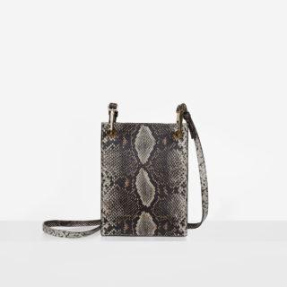 """Messenger Bag """"brown python"""""""