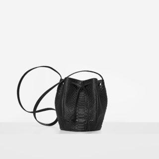 "Mini Bucket Bag ""black python"""