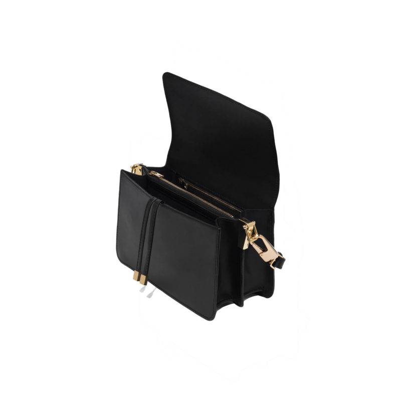 Klasyczna czarna torebka na ramię