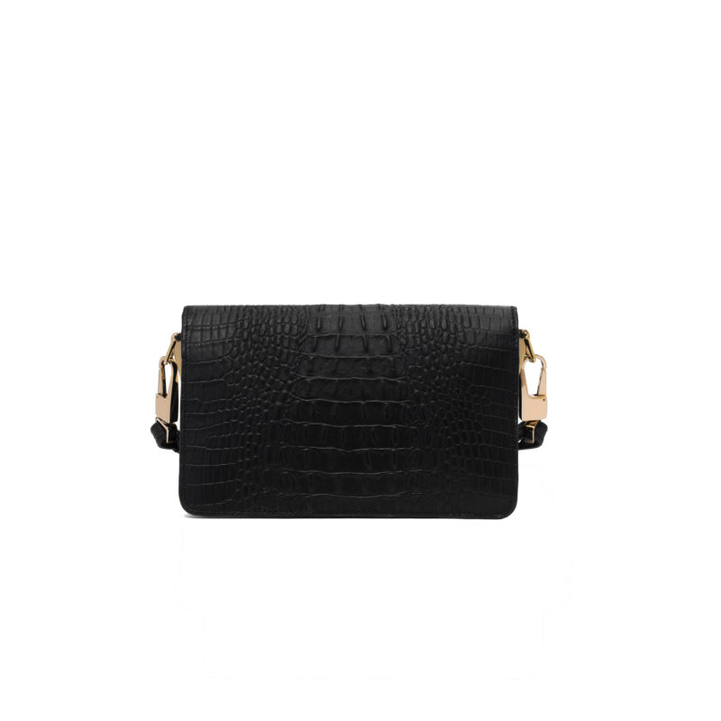 "Shoulder Bag ""black crocodile"""