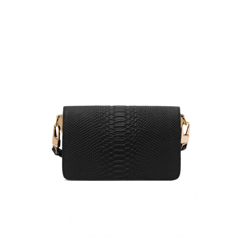 "Shoulder Bag ""black python"""