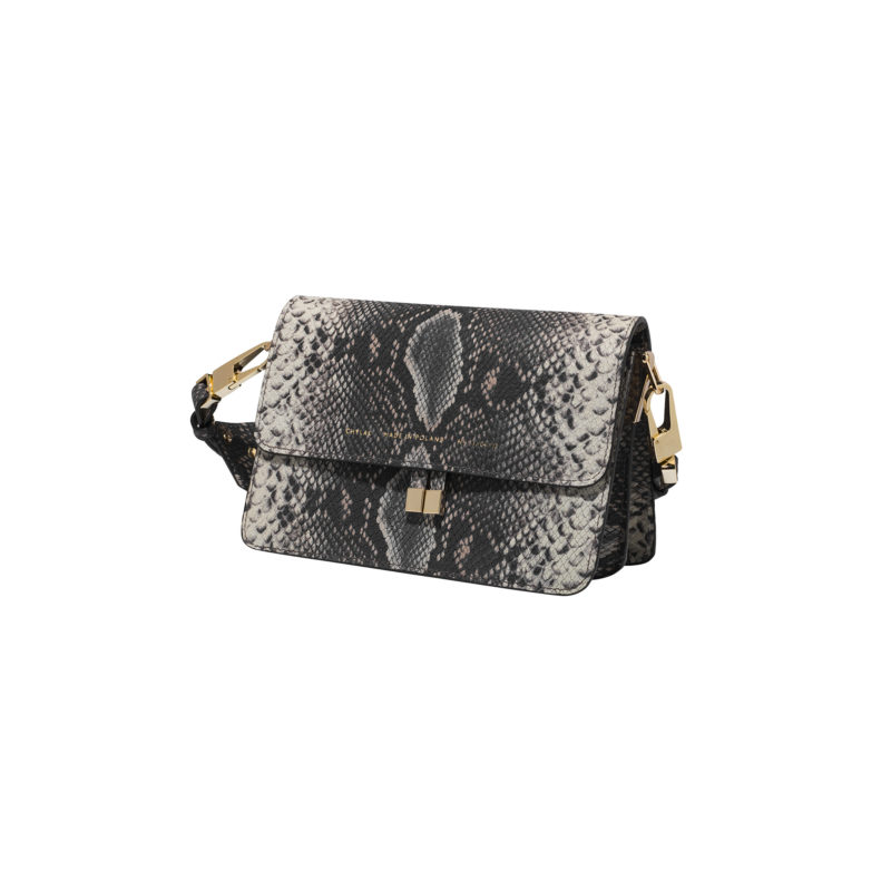 "Shoulder Bag ""brown python"""