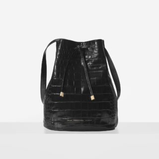 "Big Bucket Bag ""glossy crocodile"""