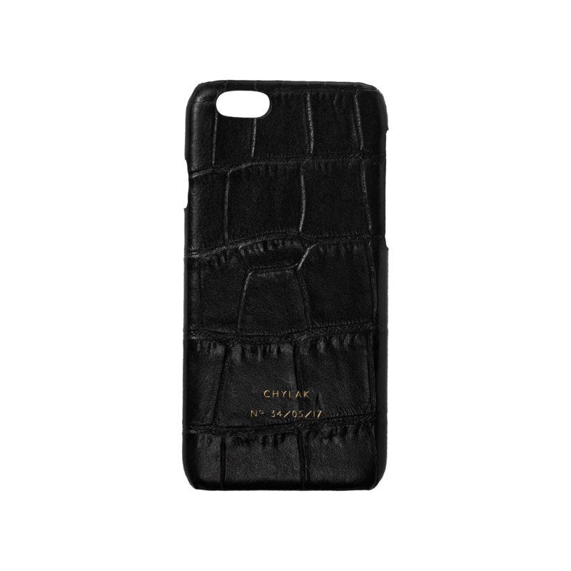 "Etui na iPhone ""Czarny Krokodyl"""