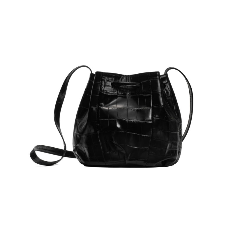 "Small Bucket Bag ""glossy crocodile"""