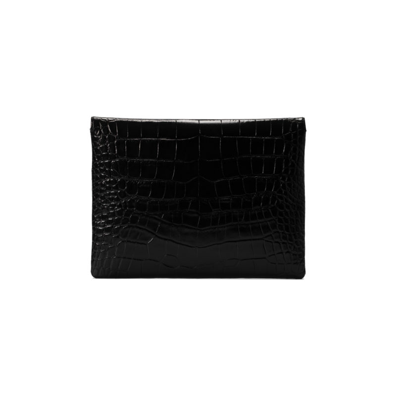 "Computer case  ""glossy black crocodile"""
