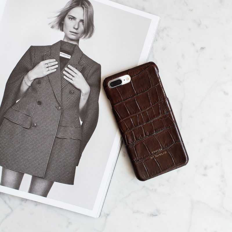 "iPhone Case ""Brown Crocodile"""