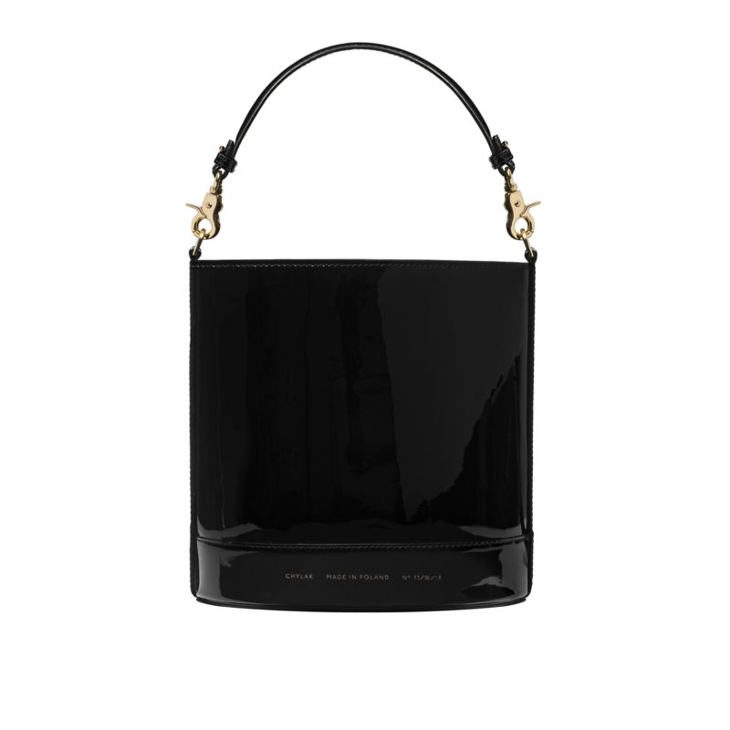 "Cylinder Bag ""black patent leather"""