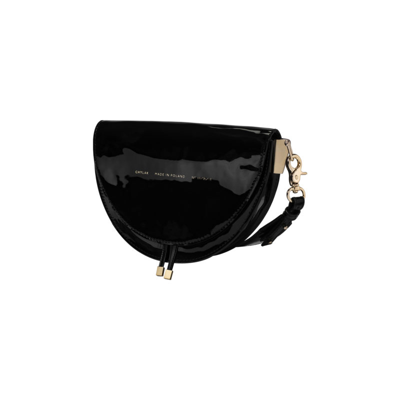 "Saddle Bag ""black patent leather"""