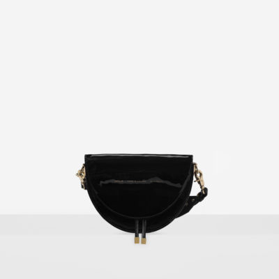 "Saddle Bag ""black patent leather"""