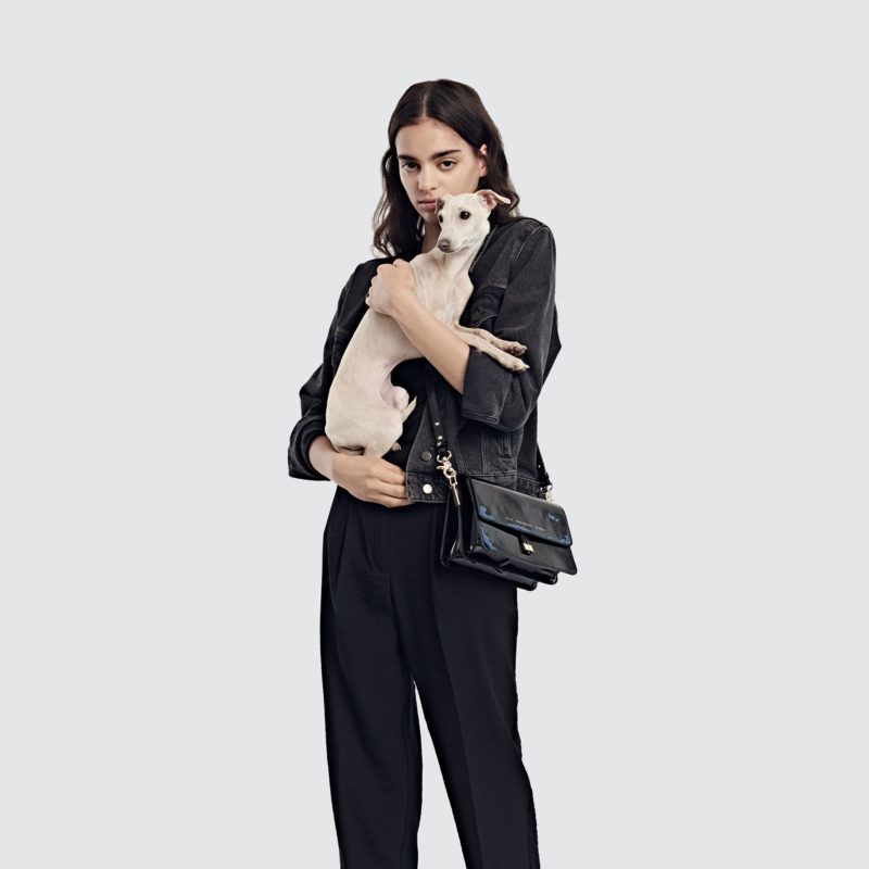 """Shoulder Bag """"black patent leather"""""""