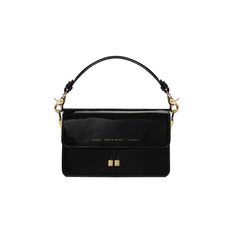 "Shoulder Bag ""black patent leather"""