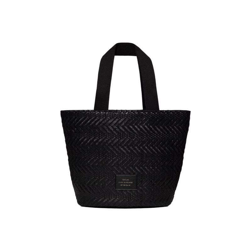 "Small Tote Bag ""black woven"""