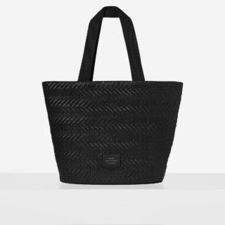 "Big Tote Bag ""black woven"""