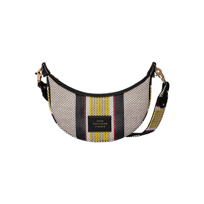"Croissant Bag ""striped woven"""