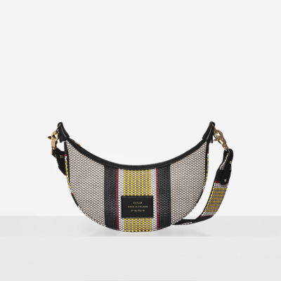 "Croissant Bag ""striped woven"""