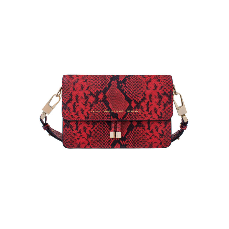"Shoulder Bag ""red python"""
