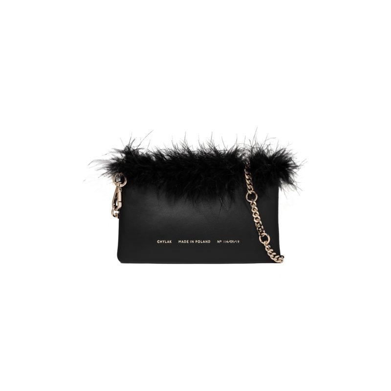 Feathered Mini Belt Bag black