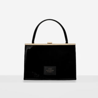 """Vintage"" clasp bag ""black patent leather"""