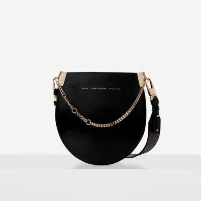 """Horseshoe Chain Bag """"glossy black"""""""