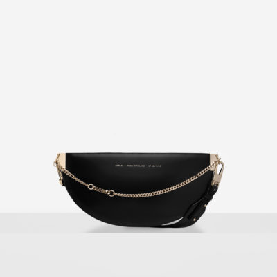 "Wide Saddle Bag ""glossy black"""